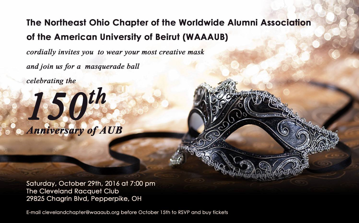 Cleveland Chapter Masquerade Ball